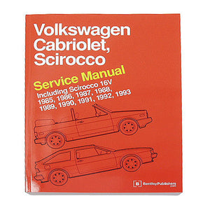 Bentley Repair Manual - VW Mk1 Scirocco/Cabriolet 8v/16v