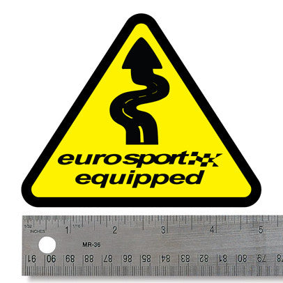 "Euro Sport Equipped 5"" Decal"