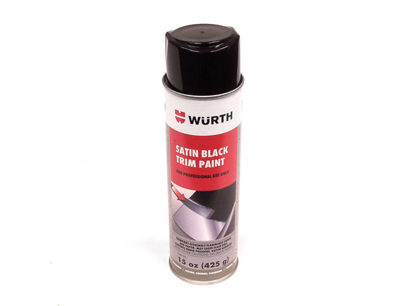 WURTH Flexible Trim Paint Satin Black - 15 oz