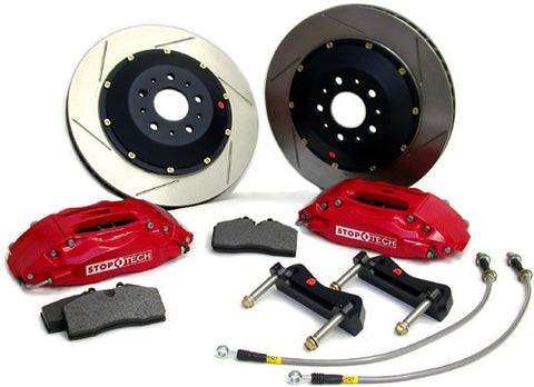 StopTech Mk4 Big Brake Kit, Red calipers, 312x25 Slotted rotors - VW MK4 1.8T/VR6