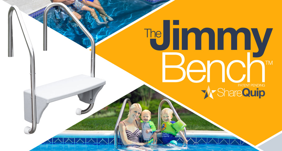 The JimmyBench — The First-Ever Product Designed to Transform Pool Ladders into Swim-Up Benches, to debut at the  Regional Pool Show January 29th