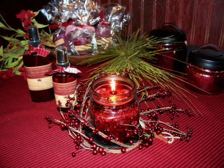 Cranberry Candle Ring