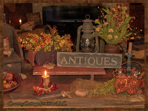 """Antiques"" Wooden Sign"