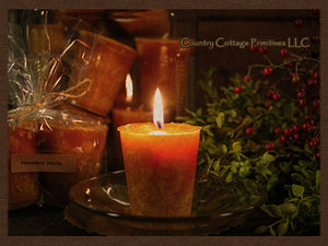 Homespun Vanilla Candles