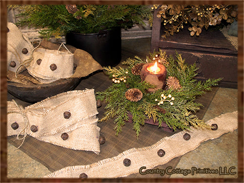Burlap Jingle Bell Garland