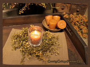 Peppergrass Candle Ring/Wreath