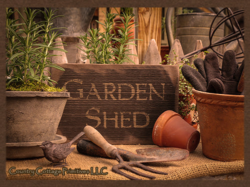 Garden Shed Barnwood Sign