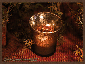 Mercury Glass Tealight Holder