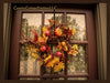 Oak Leaf Wreath with Pumpkins