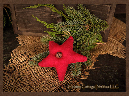 Red Flannel Star Ornament