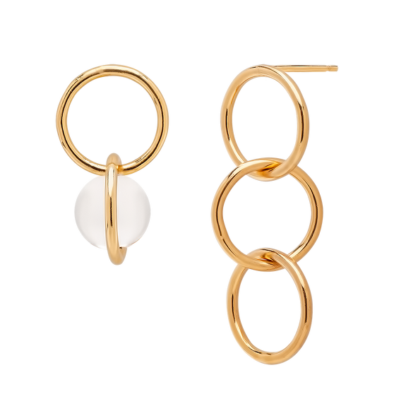 Akira Asymmetrical Earrings