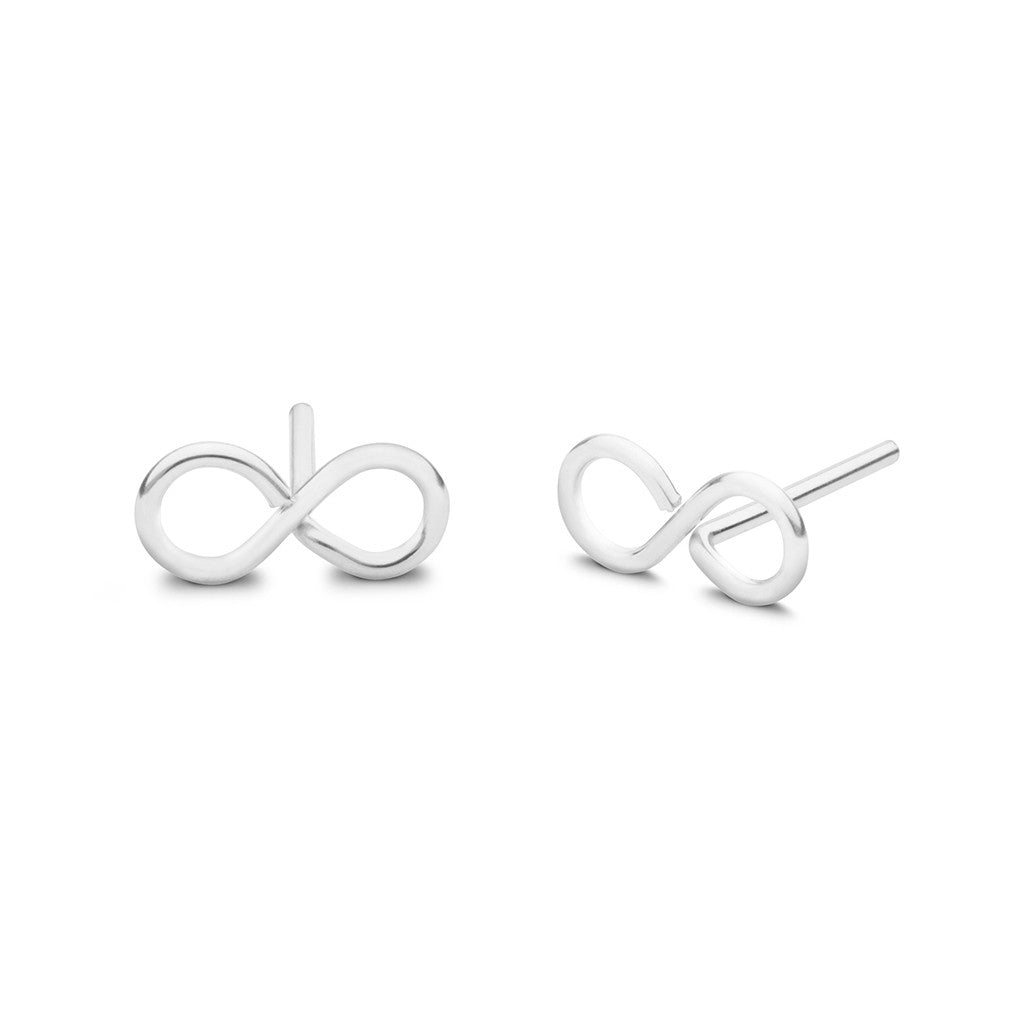 stud earrings infinity silver hiho sterling
