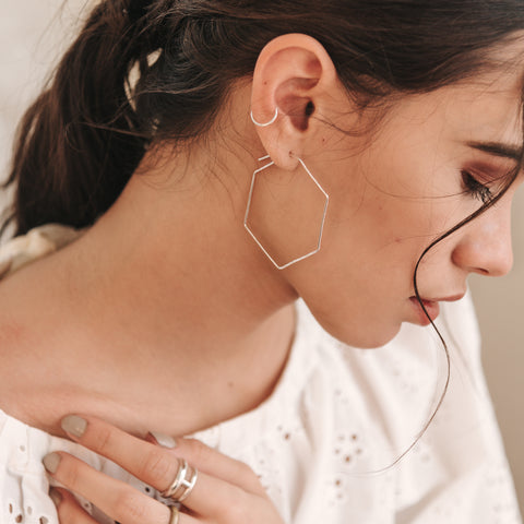 Pull-Me-Through Hex Hoops