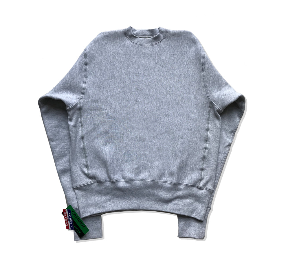 Cross Knit Crew Sweatshirt Grey Marl