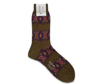 Ayame Stained Glass Socks Khaki