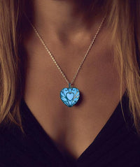 Aqua Glow in the Dark Necklace