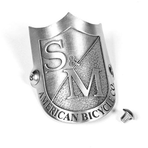 S&M SHIELD HEADTUBE BADGE