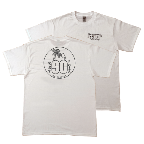 SINCO CREW WHITE LOGO TEE