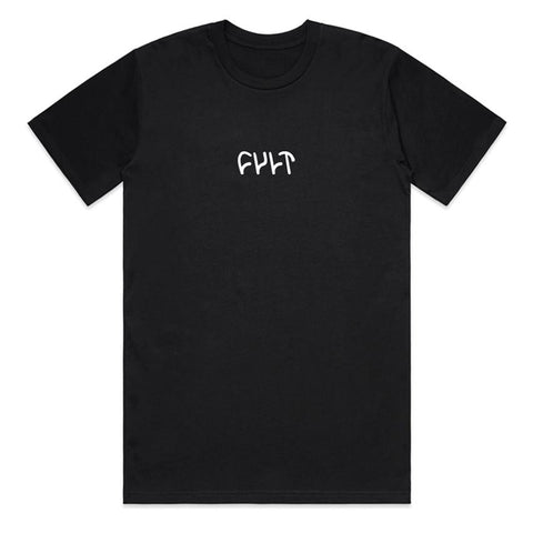 CULT EMBROIDERED LOGO TEE