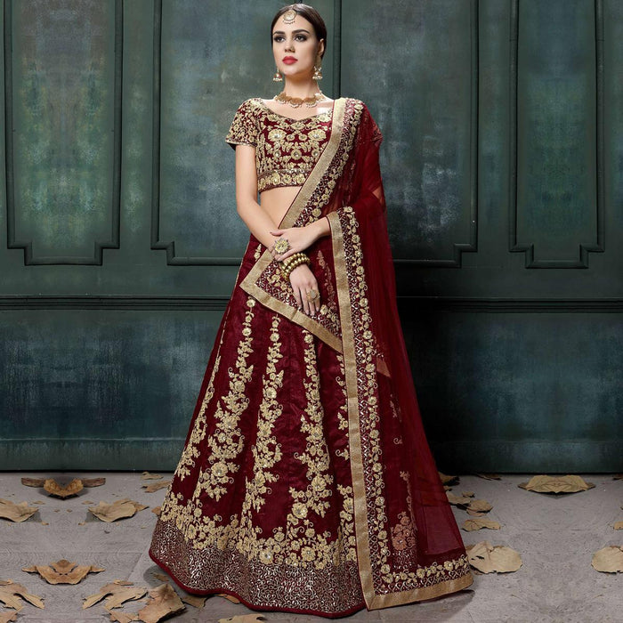 798986c6c5b Red Wedding Lehenga Online