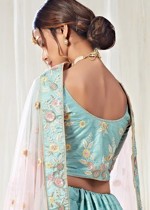 Lehanga Choli - Blue And Pink Lehenga Choli In usa uk canada