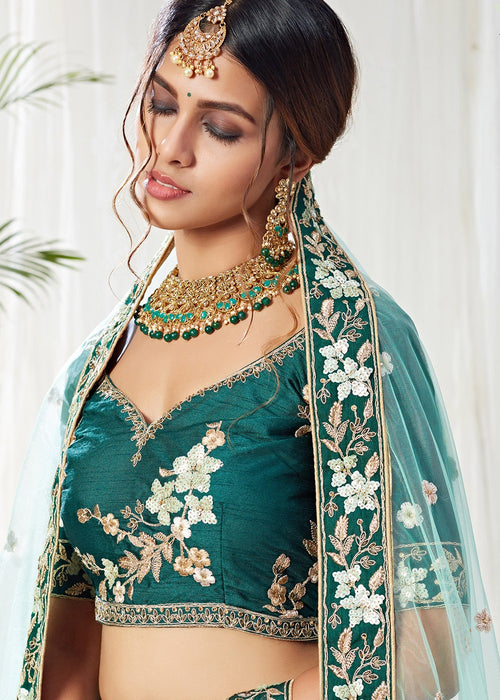 Designer Lehanga - Green Designer Lehenga Choli In usa uk canada