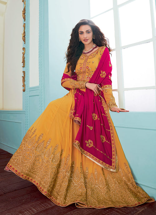 Embroidered Designer Anarkali Suit