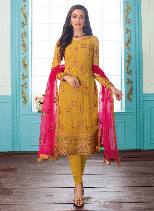 Embroidered Indian Churidar Suit