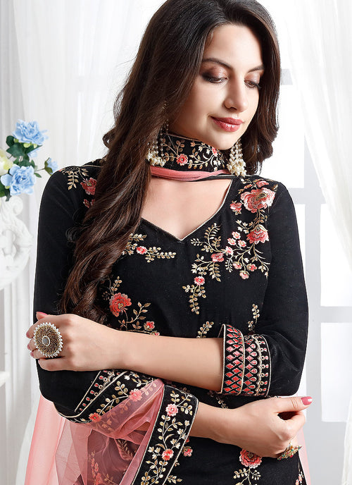 Embroidered Designer Pant Suit