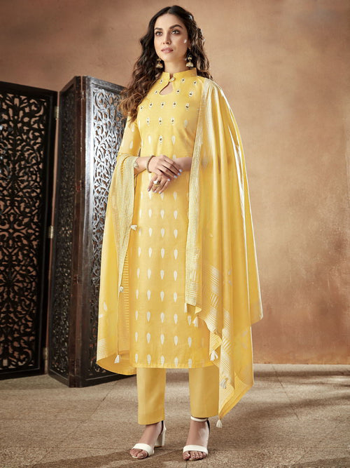Yellow Light Casual Pakistani Pant Suit