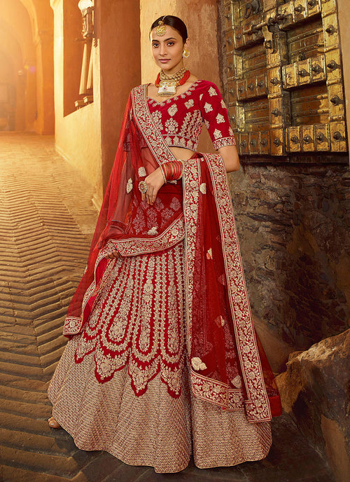 Bridal Red Wedding Lehenga Choli