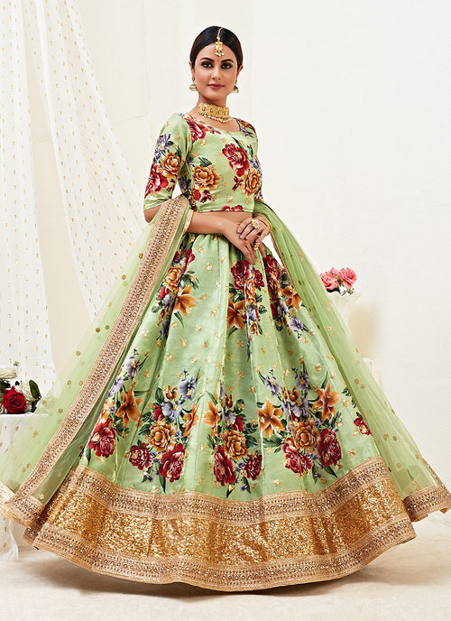 Pista Green Lehenga Choli In usa uk canada