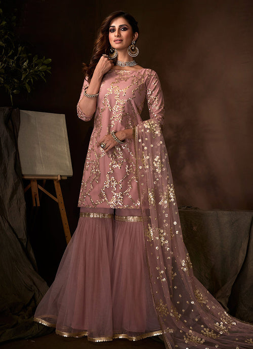 Purple Traditional Gharara Suit