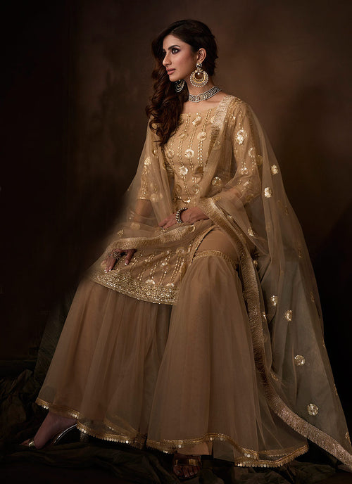 Indian Suits - Copper Gharara Suit In usa