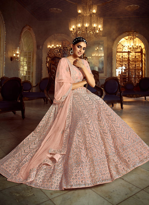 Peach Lehenga Choli In usa uk canada