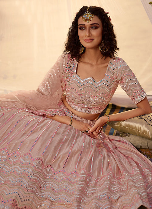 Pale Pink Lehenga Choli In usa
