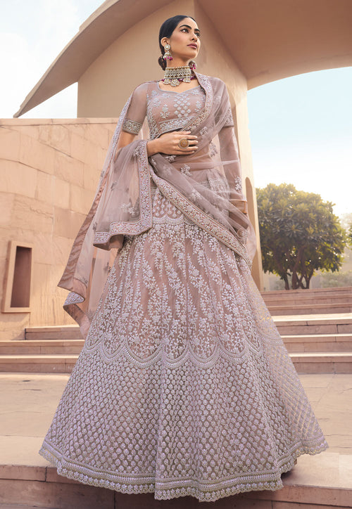 Lilac Purple Traditional Designer Lehenga Choli