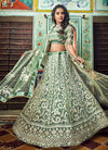 Light Green Designer Wedding Lehenga Choli, Lehenga