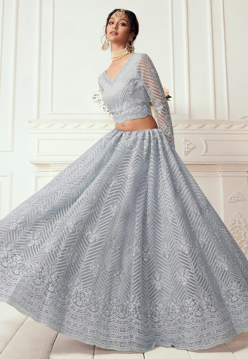 Ice Blue Lehenga Choli In usa uk canada