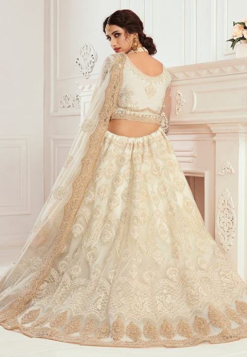 Beige Golden Lehenga Choli In usa uk