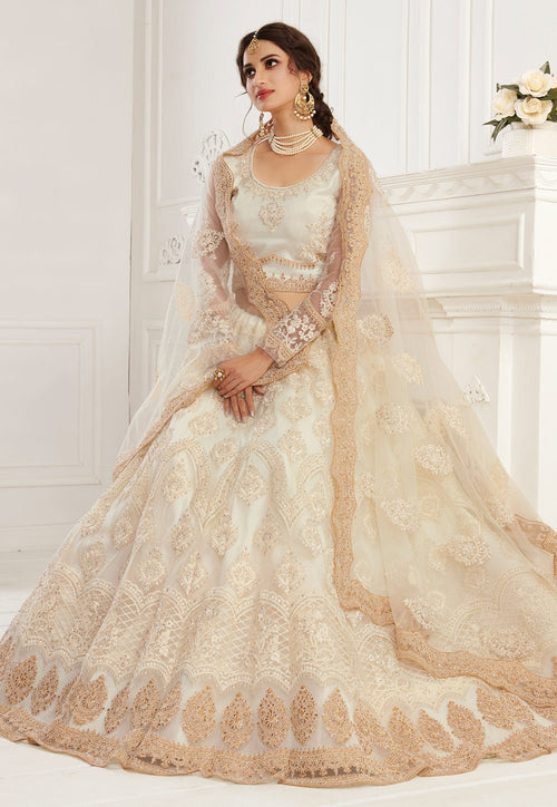 Beige Golden Lehenga Choli In usa uk canada