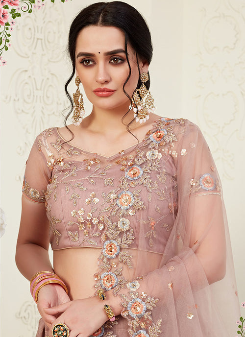 Mauve Lehenga Choli In usa