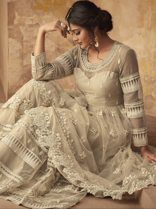 Biscuit Beige Party Wear Sharara Online