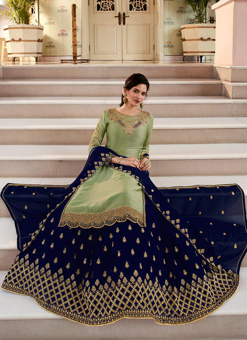 Indian Suits - Green Sharara Suit