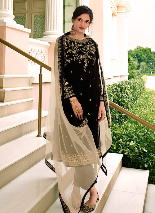 Black Traditional Sharara Suit
