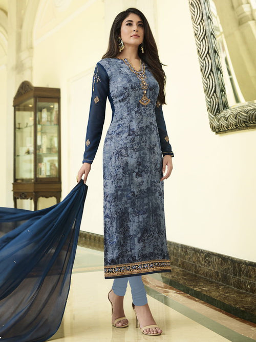 Buy Indian Blue Hues Minimalist Embroidered Brasso Designer Pant Suit For Women Online In Usa Uk Canada Australia Germany New Zealand And Worldwide At Best Price