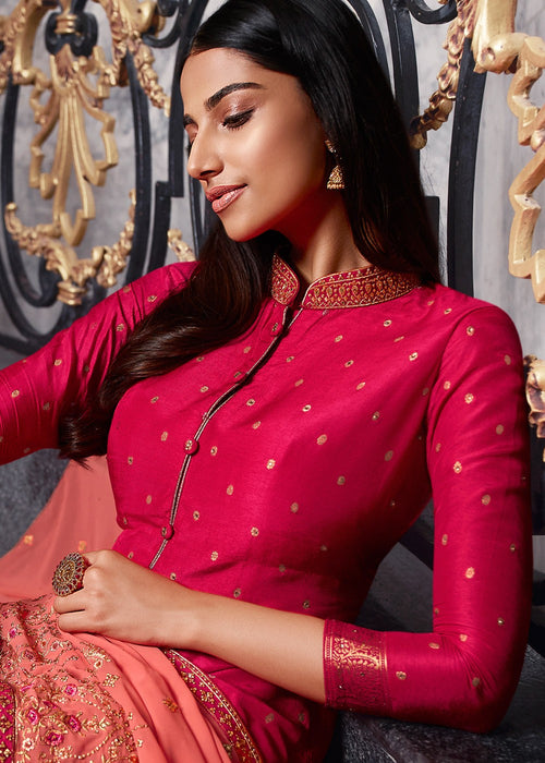 Indian Suits - Pink Designer Sharara Suit In usa uk canada