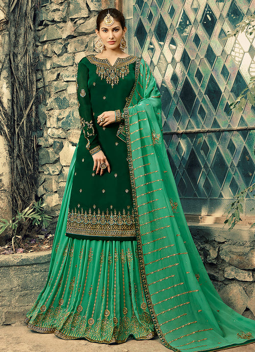 Embroidered Lehenga Suit