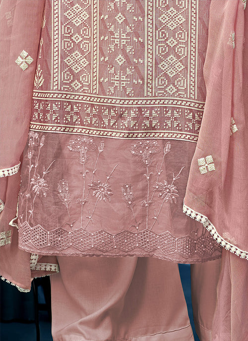 Light Pink Pearl Palazzo Suit In usa uk canada