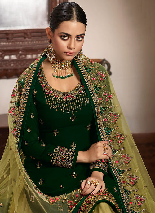 Indian Suit - Green Lehenga/Pant Suit In usa